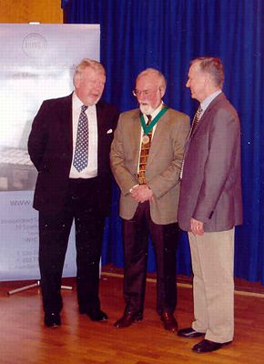 John Morehen (ISM President), John McCabe and Kenneth Hÿtch at the ISM Award ceremony. Photo © Fiona Southey