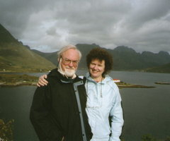 John and Monica McCabe. Lofoten Islands, Norway. Photo © 2010 Gillian McCabe