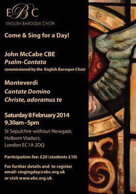 EBC - Come and Sing for a Day! John McCabe CBE: Psalm-Cantata
